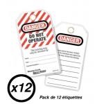 """Étiquette de consignation Master Lock S497A, S497LFR, """"Danger - Ne pas utiliser"""""""