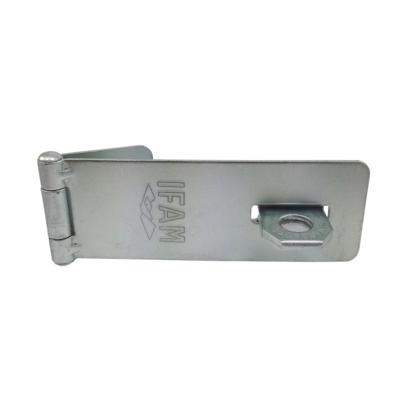 Porte cadenas en acier ifam pc430 fermeture pour cave ou for Porte de cabanon en acier