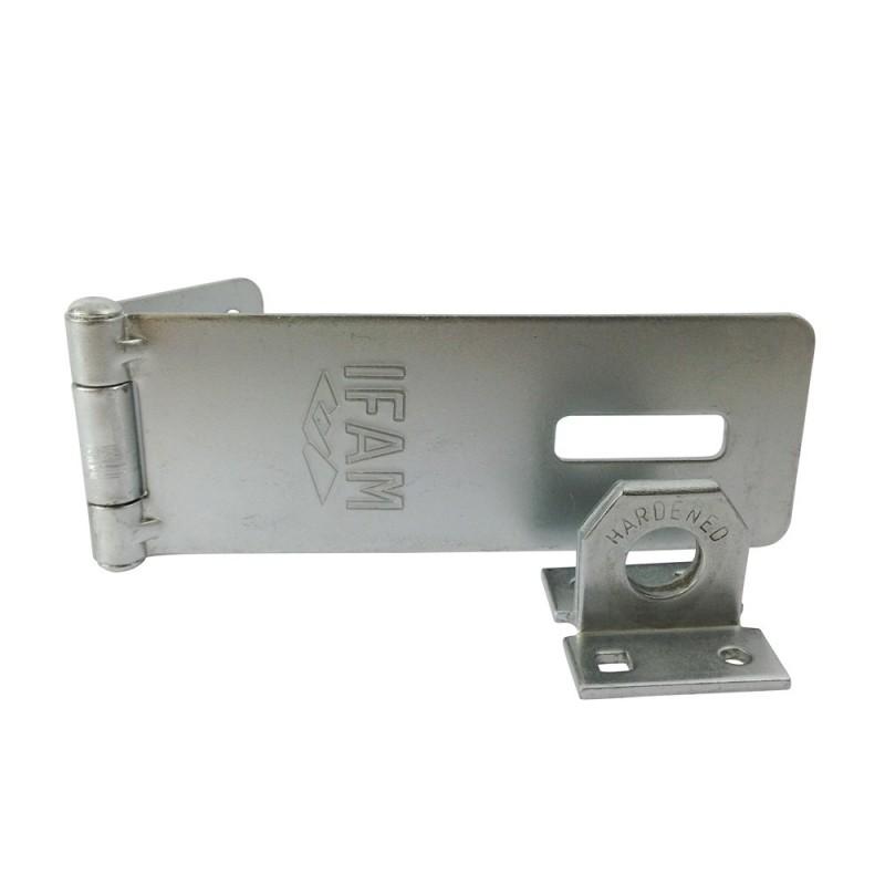 Porte cadenas en acier ifam pc430 fermeture pour cave ou for Porte en acier pour cabanon