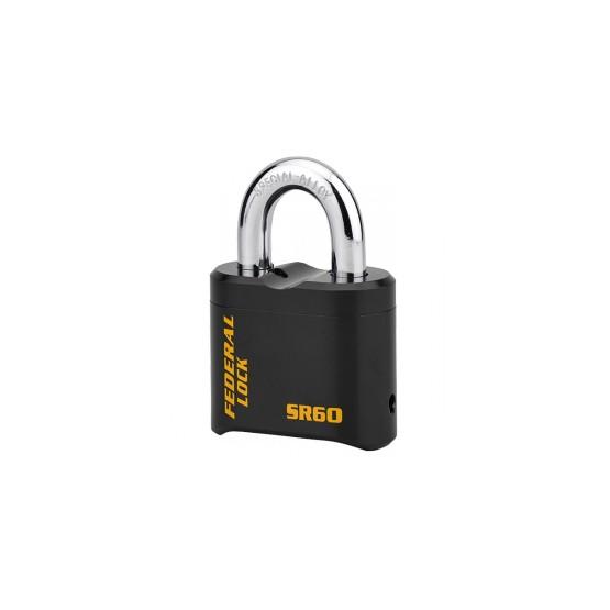 Federal Lock SR60: cadenas en acier à combinaison, anse en acier spécial