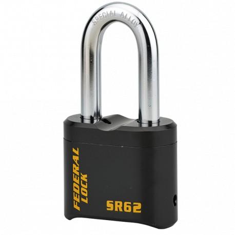 Cadenas à code en acier anse haute Federal Lock SR62