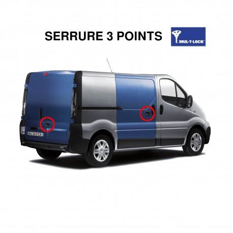 Kit complet de serrures 3 & 1 points renforcées pour véhicules utilitaires
