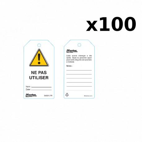 Distributeur 100 étiquettes de consignation Master Lock ML_S4810LFR