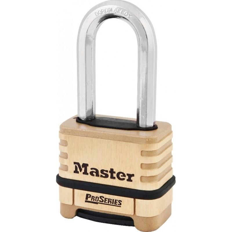 master lock 1175dlh cadenas industriel haute s curit combinaison et anse longue. Black Bedroom Furniture Sets. Home Design Ideas