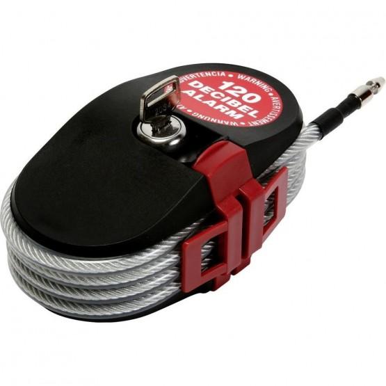 Cadenas avec câble alarme antivol avec alarme LA_6798