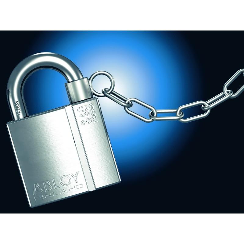 Cha ne de maintien abloy pour cadenas s curit renforc - Chaine de securite pour porte ...