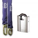 Ensemble haute sécurité cadenas Abloy et chaine Squire TC19.5
