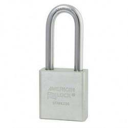American Lock A6461 - Cadenas en acier massif inox, anse inox