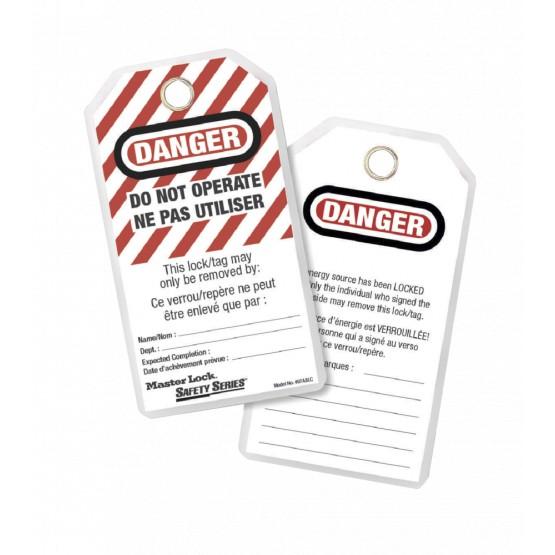 """Étiquette de consignation Master Lock """"Danger - Ne pas utiliser"""""""