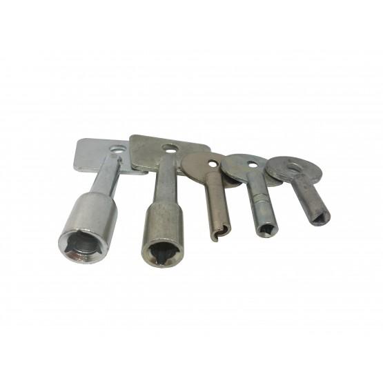 Trousseau de 5 clés d'artillerie pour cadenas d'artillerie