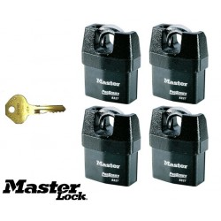 Destockage: Lot de 4 cadenas Master Lock Pro Series 6327KA