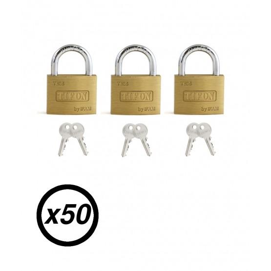 Lot de 50 cadenas à clé IFAM TIFON TB-35