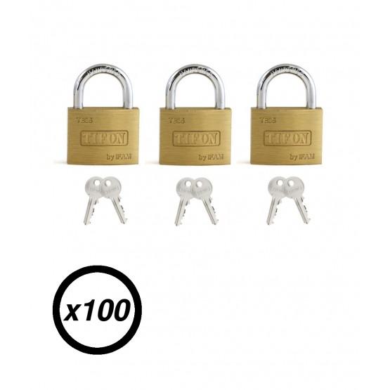 Lot de 100 cadenas à clé IFAM TIFON TB-35