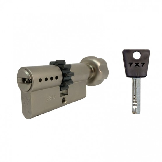 Cylindre à bouton et roue dentée Mul-T-Lock 7x7