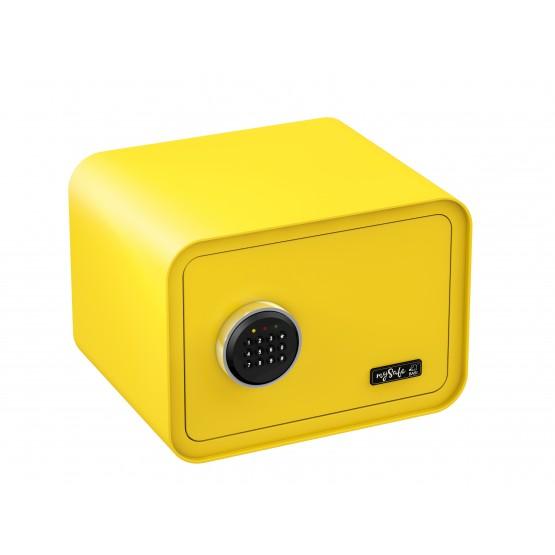 Coffre fort de couleurs à code BASI MySafe couleur jaune