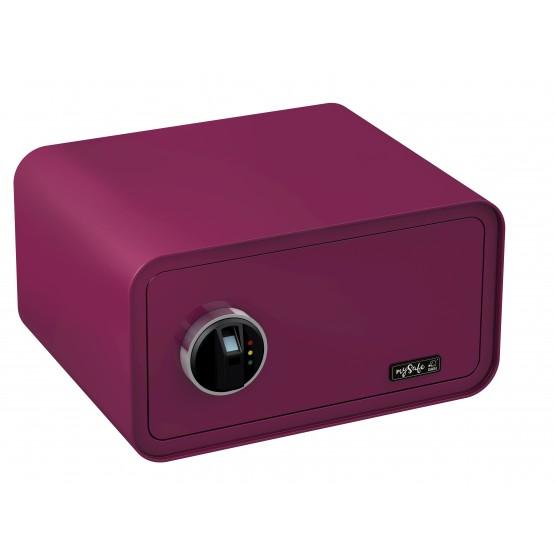 Coffre-fort de couleur BASI MySafe 430 à empreinte digitale violet