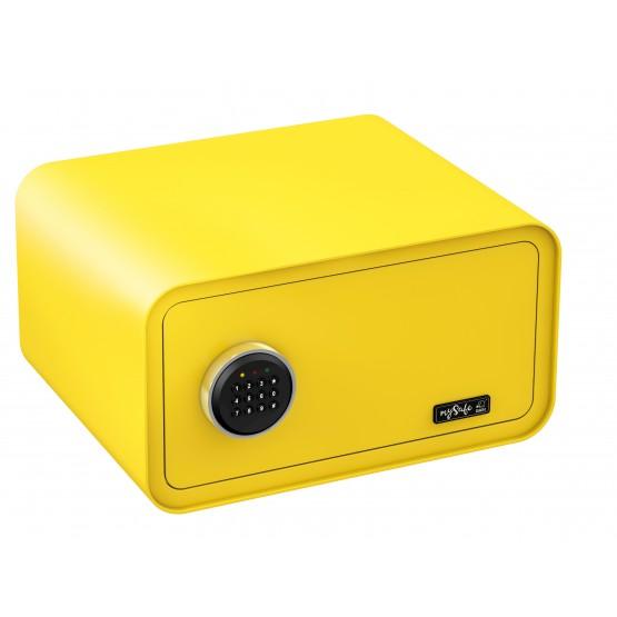 Coffre fort de couleur à code 430 BASI MySafe couleur jaune