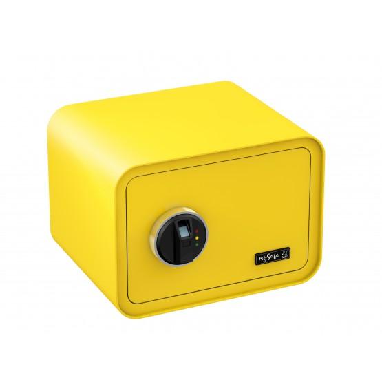 Coffre-fort de couleur BASI MySafe 350 à empreinte digitale jaune