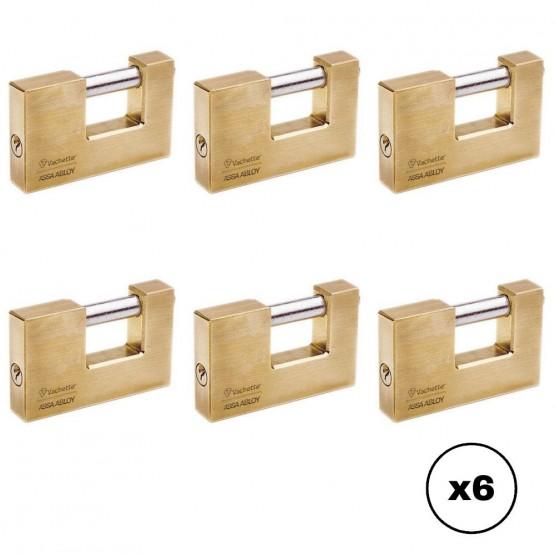 Lot de cadenas titan Vachette 1000 avec clé identique, 90 mm