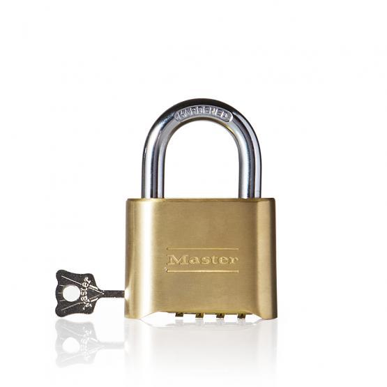 Master Lock 175DEURD cadenas laiton à combinaison personnalisable avec une clé