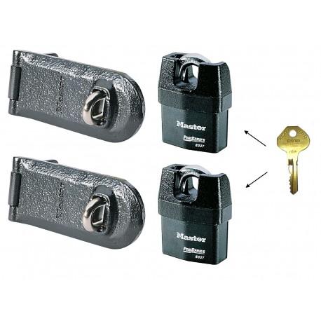 Combo double Master Lock 6327 + 724EURD - Sécurisation des portes métalliques: garages, véhicules utilitaires