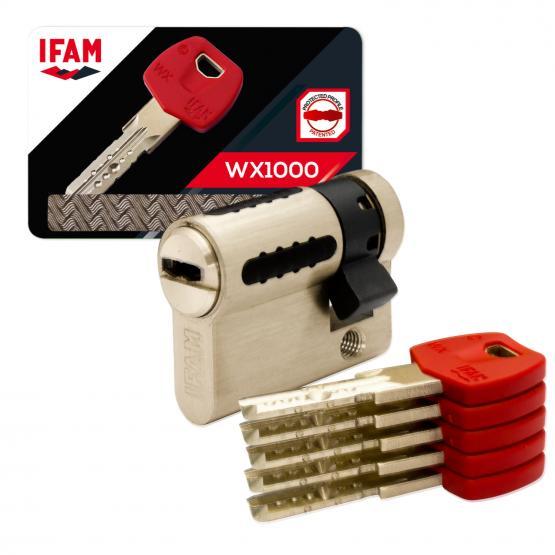Barillet de porte de haute sécurité IFAM, WX1000 double entrée
