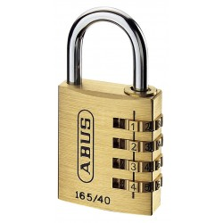 ABUS 165/40 - cadenas laiton à combinaison 4 molettes