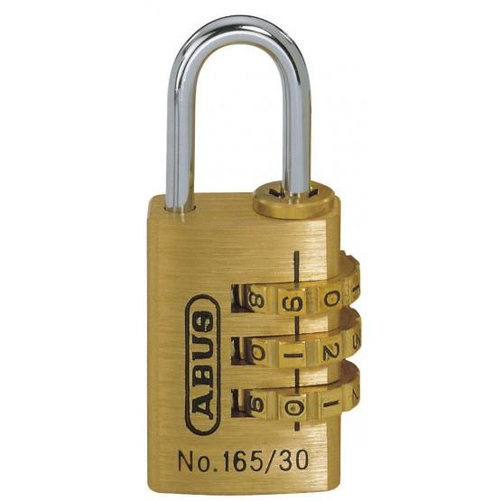 ABUS 165/30 - cadenas laiton à combinaison 3 molettes