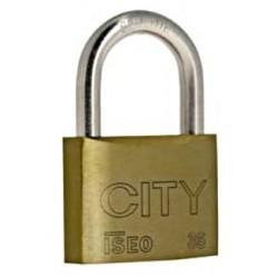 Cadenas Iseo CITY 35, clé variée, s'entrouvrant ou sur numéro