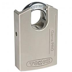 Cadenas haute sécurité en acier Tokoz Gama Pro 70CS argent