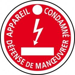CATU AP-467 - Disque de signalisation de condamnation