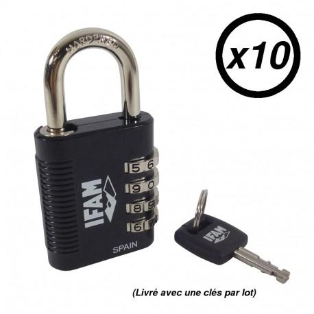 IFAM R4MK: cadenas à combinaison avec clé passe