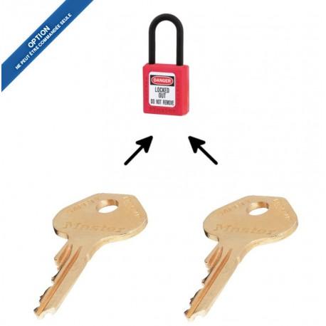 Option 2KEY pour cadenas de consignation Master Loc