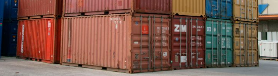 Cadenas pour conteneurs, containers